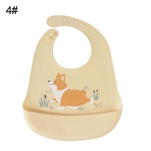 Водонепроницаемый Регулируемый нагрудник с животным принтом для малышей с карманом для кормления слюнявчик полотенце для еды аксессуар мягкий детский материал обеспечивает уход - Цвет: Yellow Dog