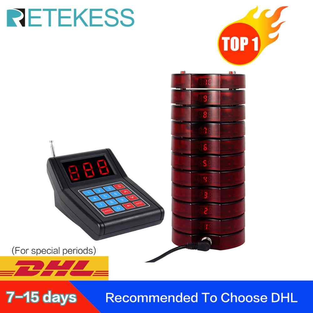 RETEKESS SU-668 Pager Restaurant Wireless Calling System Waiter Pager Callลูกค้าสำหรับร้านอาหารโบสถ์เนอสเซอรี่Wireless Pager