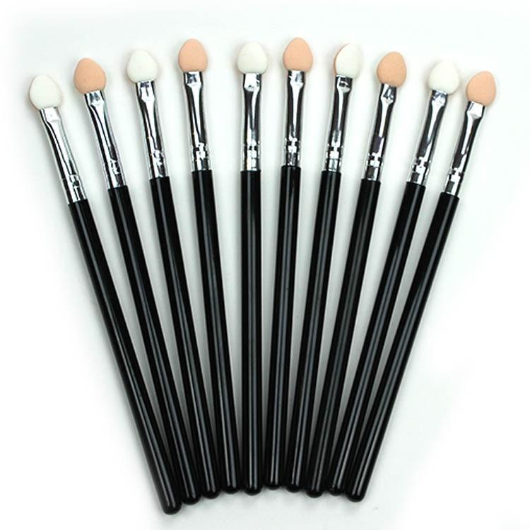 Портативная губка с деревянной ручкой, 1/аппликатор для губ шт., палочка для макияжа, тени для век, тени для носа кисть, косметические инструменты аксессуары|Аппликатор теней для век|   | АлиЭкспресс