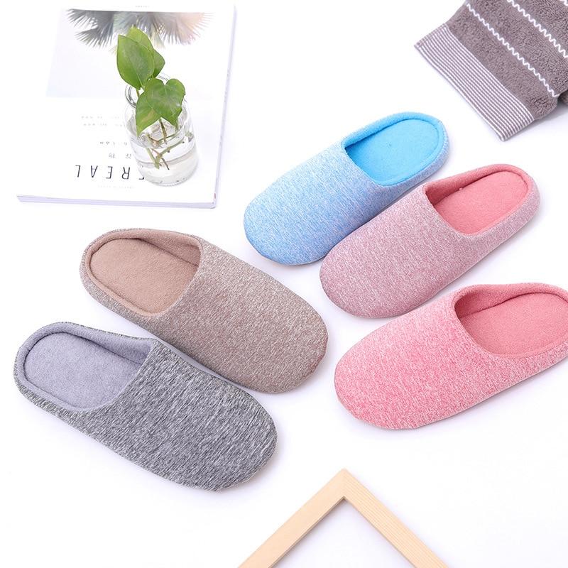 Pantofole da donna per interni invernali pantofole di cotone morbido peluche da casa scarpe da pavimento antiscivolo pantofole da casa scivoli da donna per camera da letto 1