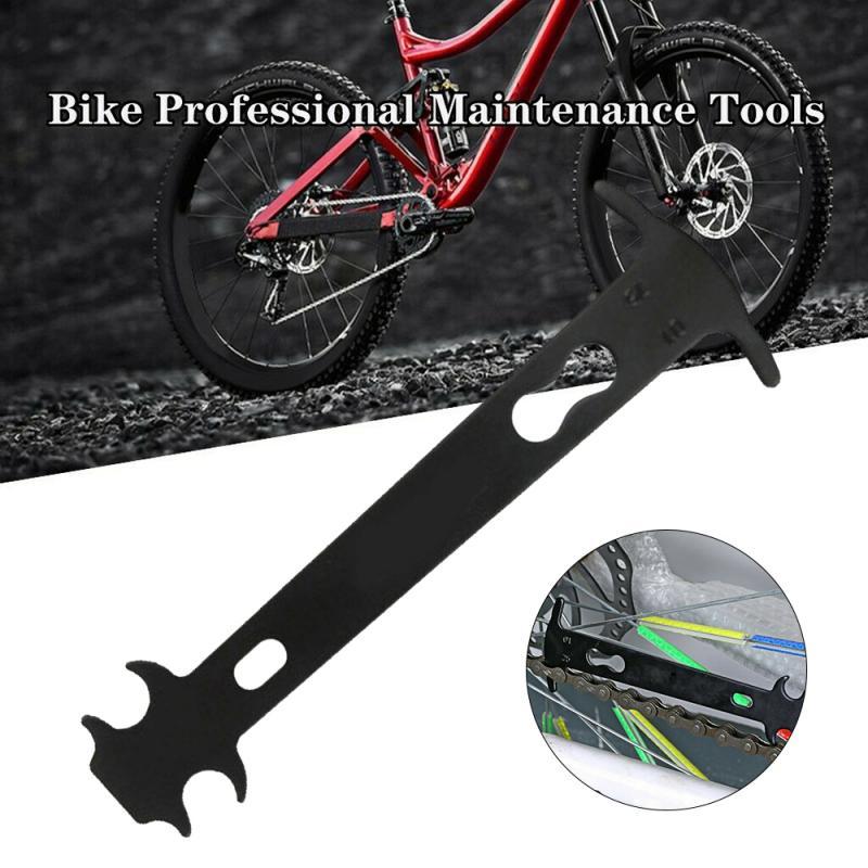 Outdoor Sports Bikes Bicycle Chain Checker Ruler Maintenance Repair Tools Black