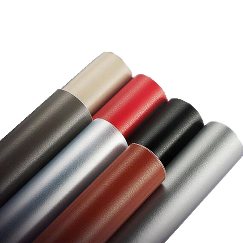 Película de revestimiento de vinilo para coche, pegatina de PVC con patrón de cuero de 20/30/40/50/58x152cm para coche, decoración interna, envoltura de vinilo