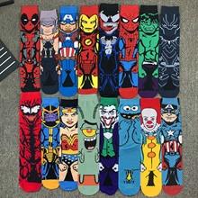 Women Socks Marvel-Sonic Hip-Hop Anime Knee-High Adult Cartoon 1pair Hot-Sale Men's