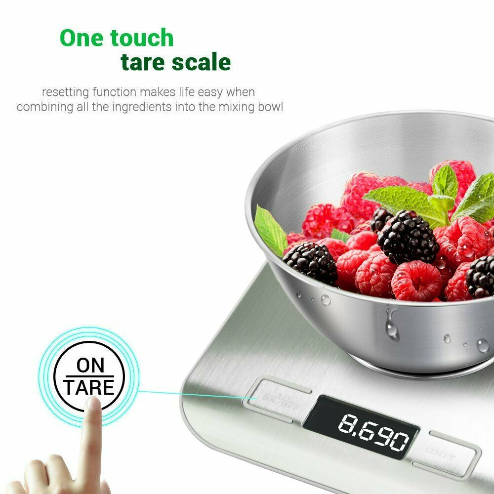 1G-5000G Kitchen Scale Food Diet Weight Postal Scales Balance Kitchen Measuring Tools Slim LCD Digital Electronic Weighing Scale