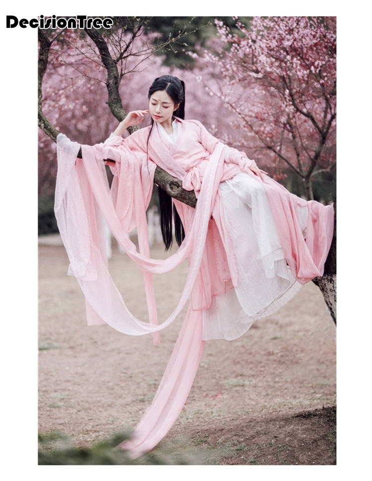 2020 Ancient Chinese Costume Women Traditional Chinese Dance Clothing Women Hanfu Dress Oriental Dress Dance Wear
