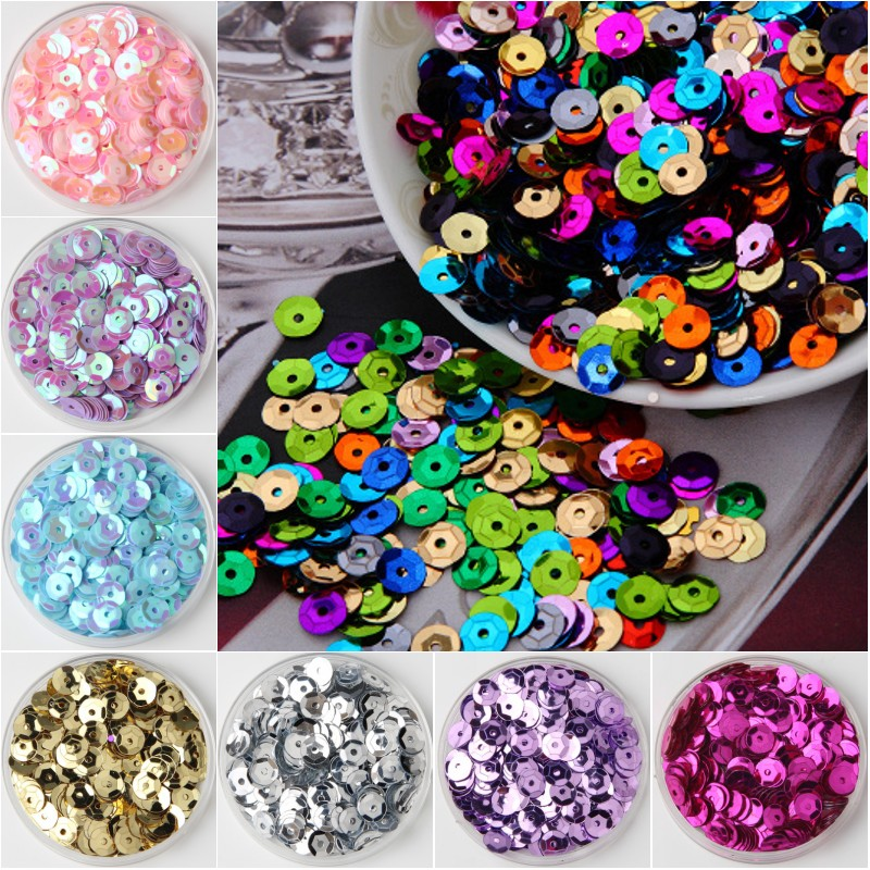 4mm Cup SEQUIN FACET PAILLETTES ~ Aluminum Embossed Metal