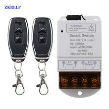 433mhz interruptor remoto sem fio ac 110v/120v/240v/30a 1ch relé rf interruptores de luz de controle remoto para sistemas de segurança da bomba