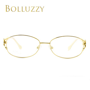 Image 2 - Womens Degree Eyeglasses Frame with Diamonds Rhinestone Golden Hollow Out Optical Eyeglasses Frame With Flower For Women 2399
