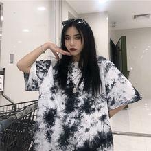 NiceMix Harajuku Tie Dye T Shirt Women Print Female Tops Tees