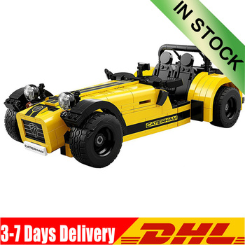 IN Stock DHL 21008 Ideas Racers Caterham Seven 620R Sports Car and F430 Sports Model Toys Blocks Brick 21307 for Children 1