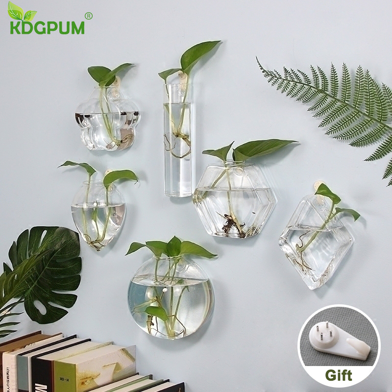 Glass Wall Hanging Vase | Glass Wall Hanging Planters