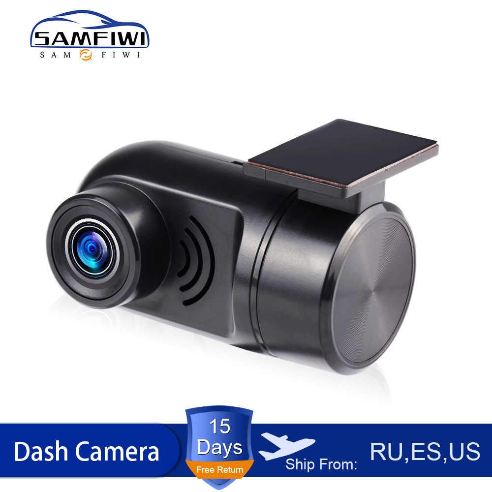 Araba dvr'ı Dash kamera USB DVR dash kamera Mini taşınabilir araba dvr'ı HD gece görüşlü araç kamerası Registrator kaydedici Android sistemi için