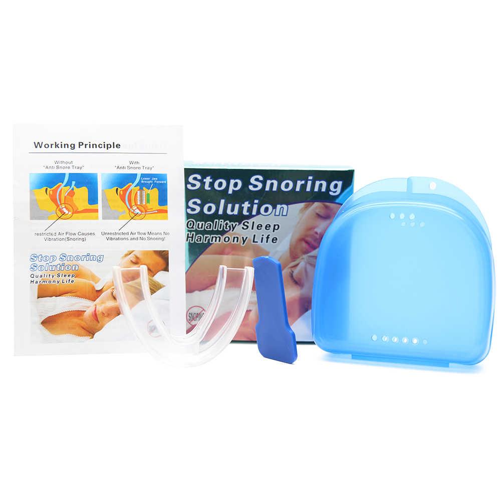 抗いびきマウスガードデバイス停止いびきトレイシリコーンマウスピース無呼吸ガードと男性の女性のため良いスリープアンチいびき
