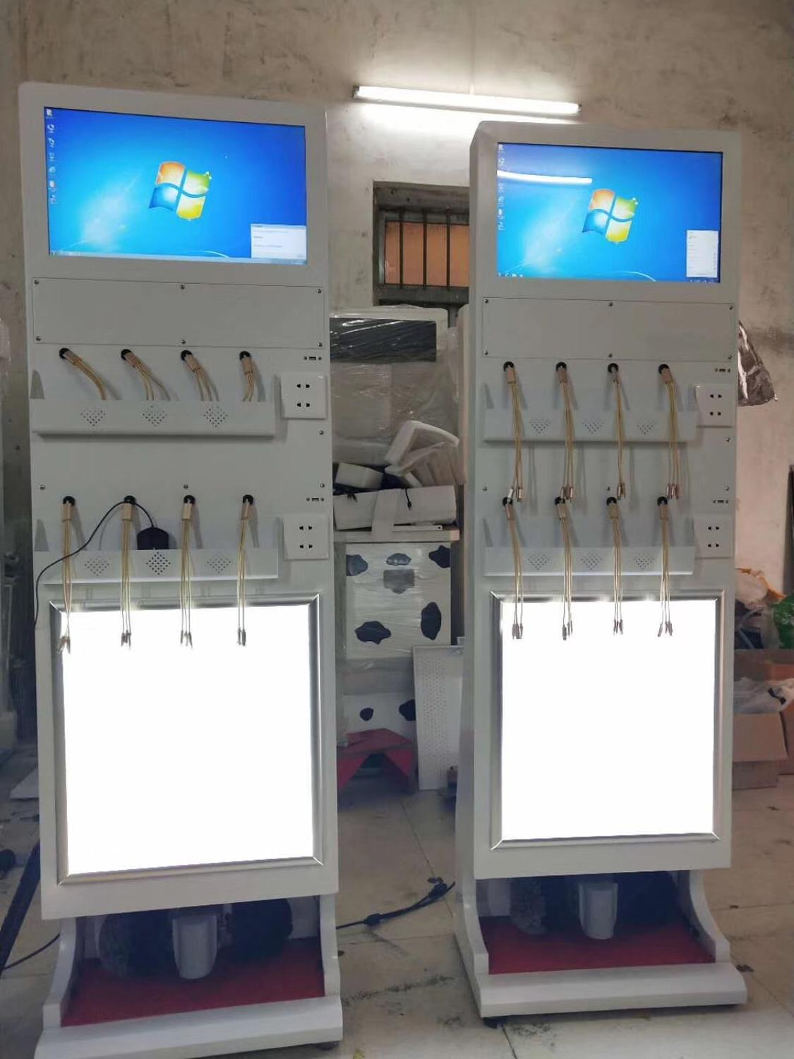 Touch Screen Signage Self Service Vending Kiosk For Mobile Phone Cellphones Power Charging