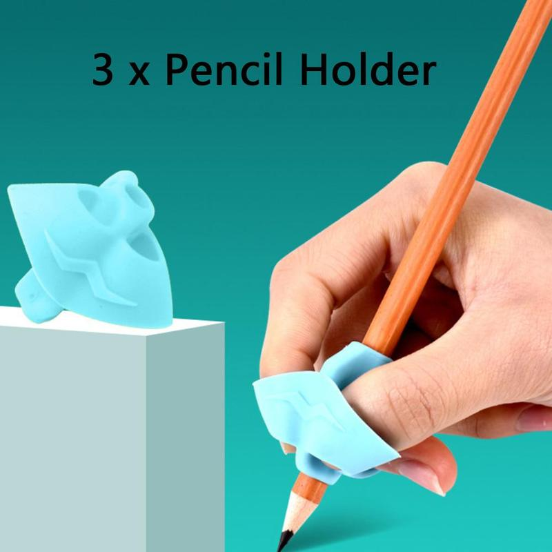 3 Pcs New Children Writing Pencil Pan Holder Kids Learning Practise Silicone Pen Aid Grip Posture Correction Device For Students