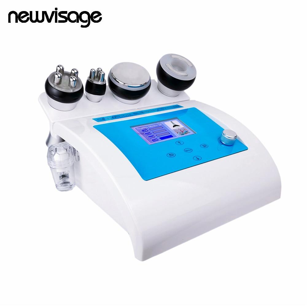 NEW 4 In 1 Vacuum Lipo Ultrasonic Cavitation Radio Frequency Multipolar RF Body Slimming Machine Anti Cellulite Salon Equipment