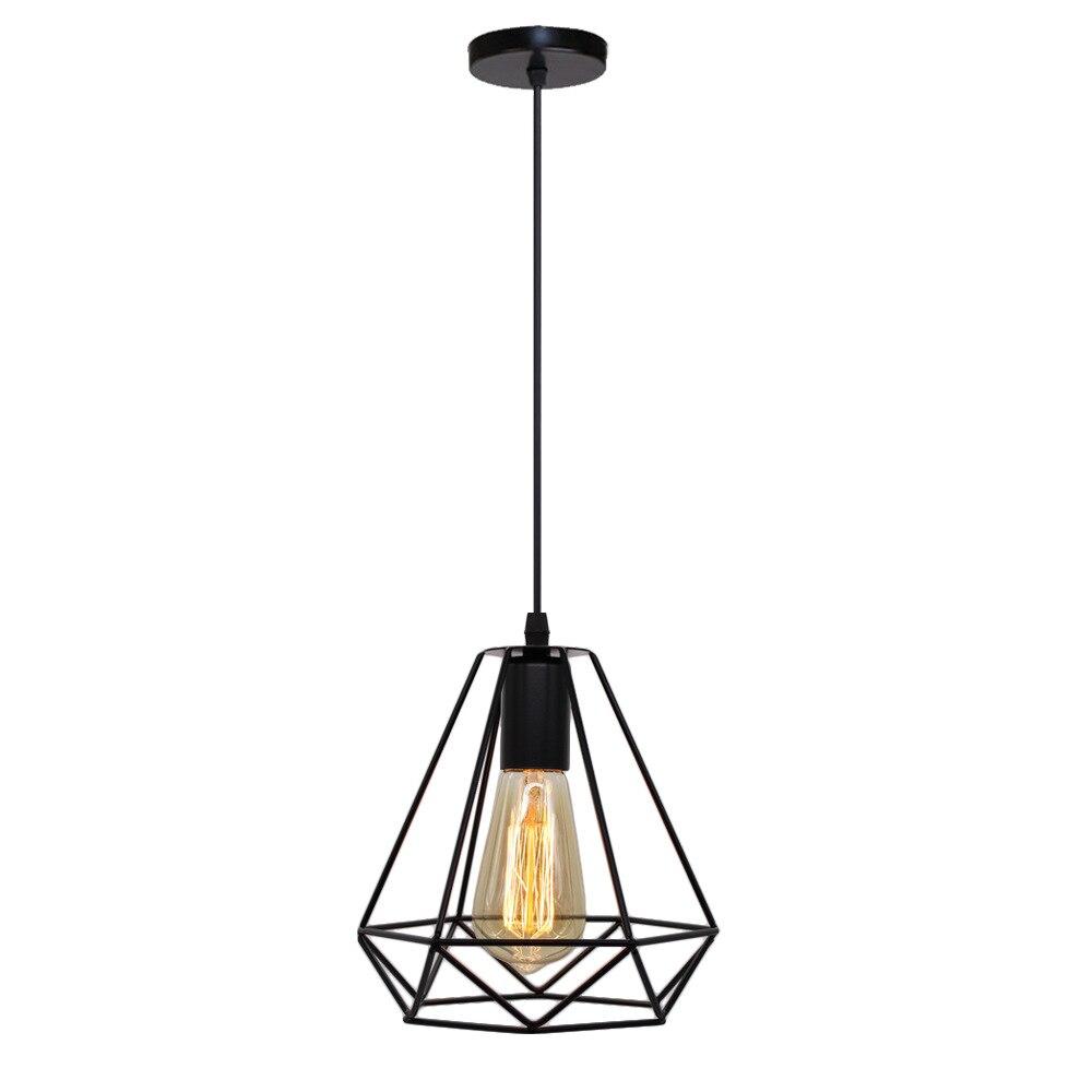 Vintage Pendant Lamp Iron Loft Nordic Retro Mesh Lampshade Bar Restaurant Lamp Industrial Led Pendant Light Cafe  Light Fixtures