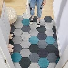 Custom Pattern Freely Cuttable Doormat Carpet Hallway Porch Indoor Floor Printed PVC Mat Carpet Waterproof Non-slip Home Doormat