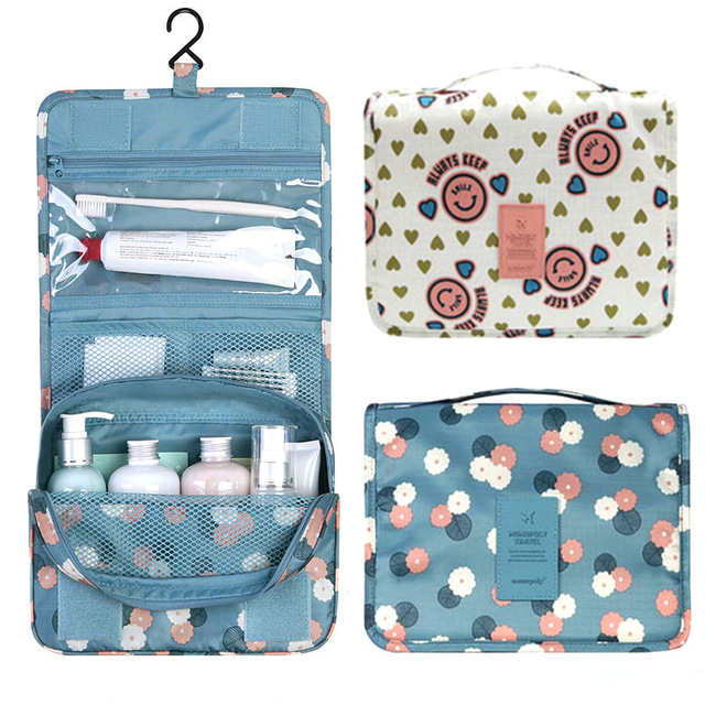 Makeup Organizer Bag Tourist Portable Folding Multifunction Wash Bag Cosmetic Bag Large Capacity Hanging Type PA838502