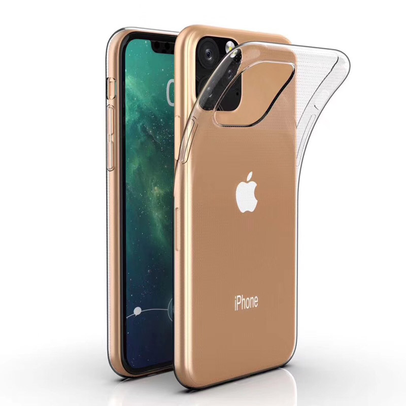 Ultra Thin Transparent Soft TPU Case For IPhone 11 Pro Max Luxury Clear Protective Silicone Cover For IPhone X XR XS Max Shell