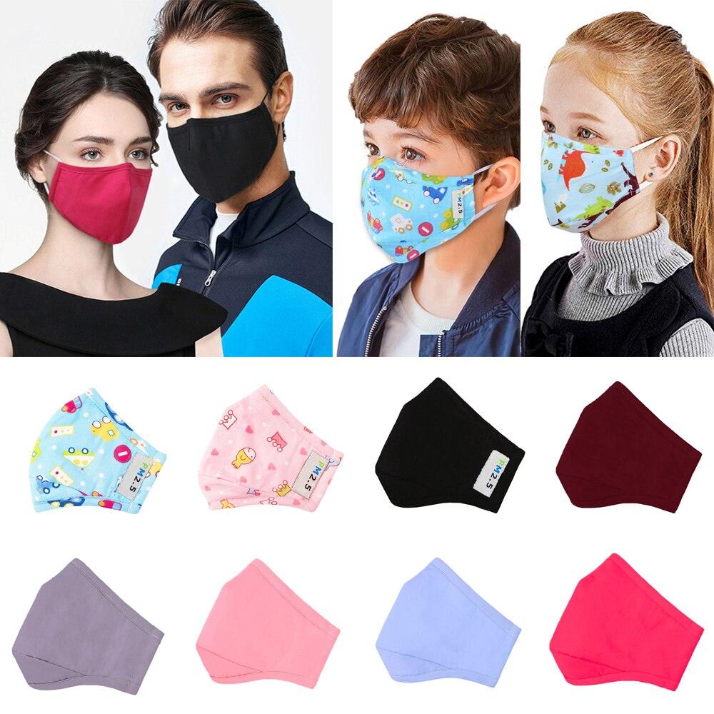 1/6/20Pcs Adult & Kids Anti-Fog PM2.5 Face Mask Dust Anti-flu Children's Protective Masks Boys Girls Mascaras Faciais Gripe D45