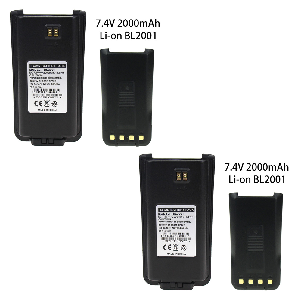 2X Replacement For BL2001 2000mAh Extended Battery For Hytera HYT Radio TC-610 TC-610P TC-618 TC-620 TC-626 Walkie Talkie