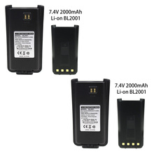 лучшая цена 2X Replacement for BL2001 2000mAh Extended Battery for Hytera HYT Radio TC-610 TC-610P TC-618 TC-620 TC-626 Walkie Talkie