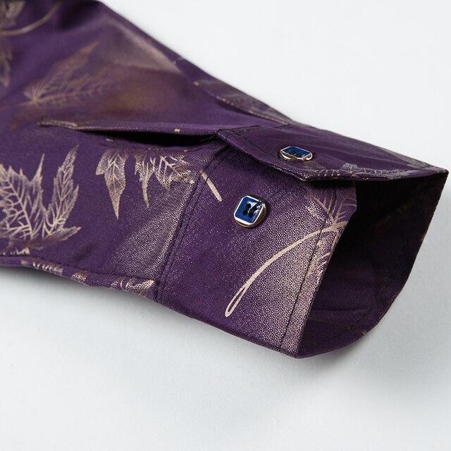 2021 New Social Long Sleeve Maple Leaf Designer Shirts Men Slim Fit Vintage Fashions Men's Shirt Man Dress Jersey Clothing 36565 5