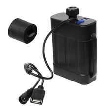 2X 2X 18650 26650 8.4 فولت بطارية قابلة للشحن علبة حزمة مقاوم للماء غطاء المنزل حافظة بطاريات صندوق مع تيار مستمر/شاحن يو اس بي للدراجة
