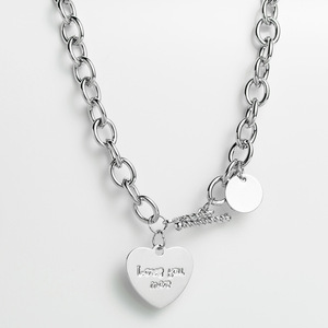 Online Celebrity Necklace Alloy Short ai xin xing Necklace Female Choker INS Lettering LOVE Western Style Hip Hop Accessories