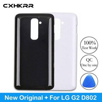 цена на Original Plastic Battery Cover For LG G2 D802 Rear Housing Back Case Door Back Door Battery Case