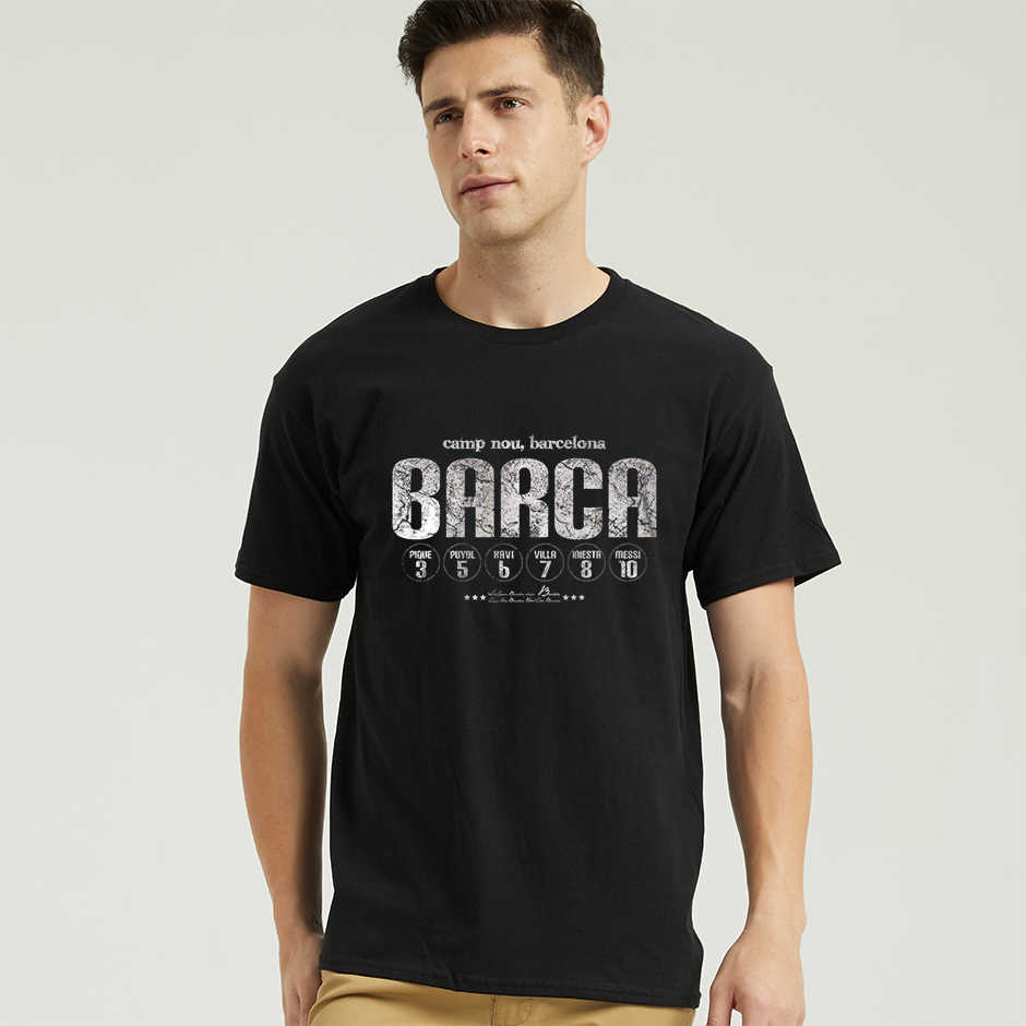 Camiseta masculina casual barca fc barcelona, camiseta gráfica para homens, vila iniesta messi xxxtentacion