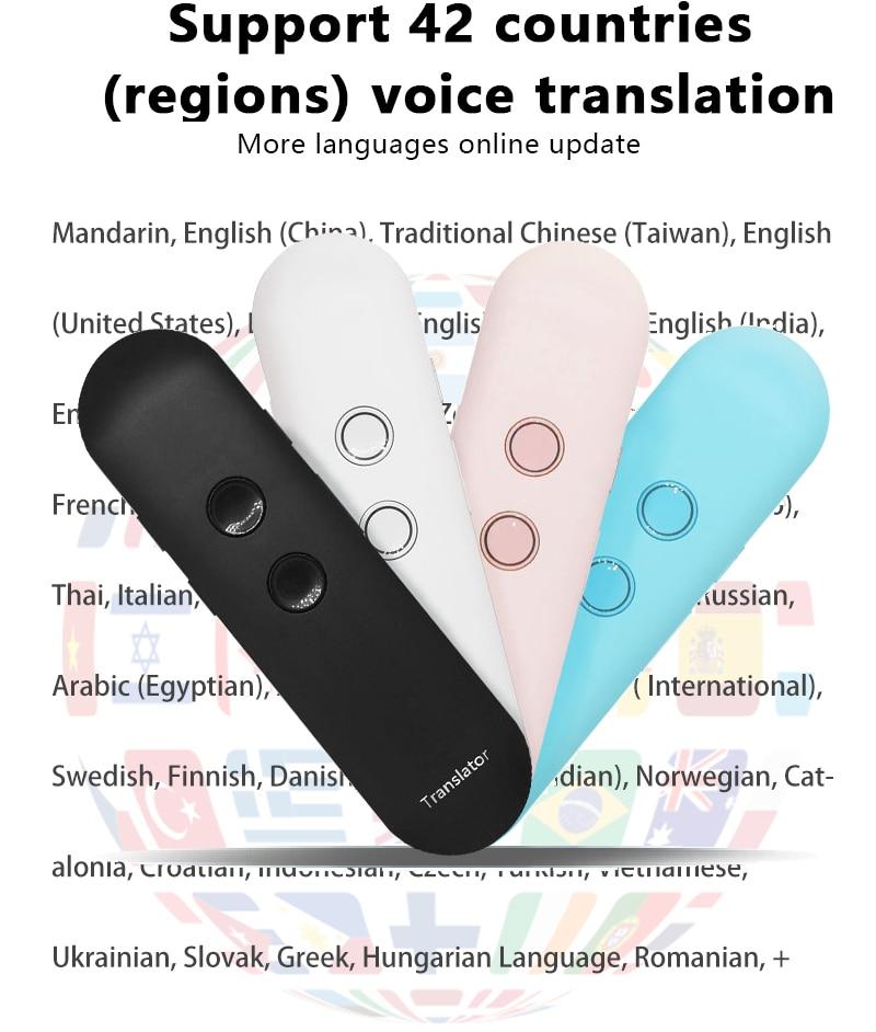 2019 nouvelle mise à niveau muama enence smart portable traducteur vocal instantané en temps réel traducteur de langue Bluetooth traducteur vocal - 5