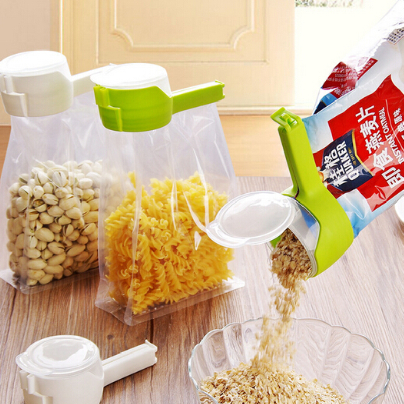 Snack Sealing Clip Fresh Keeping Sealer Clamp Plastic Helper Food Saver Travel Kitchen Gadgets Seal Pour Food Storage Bag Clip