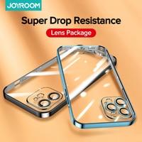 Joyroom-funda chapada para iPhone 12 Pro, cubierta completa de lente a prueba de golpes, suave, trasera de TPU para iPhone 12 Pro Max Mini