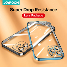 Joyroom Plating Case For iPhone 12 Pro Case Full Lens Cover Shockproof Soft TPU Back Cover For iPhone 12 Pro Max Mini Phone Case