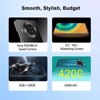 "Cubot Note 20 Pro Quad Camera Smartphone NFC 6GB/8GB+128GB 6.5"" 4200mAh Android 10 Dual SIM Telephone 4G LTE celular Note20 Pro 2"