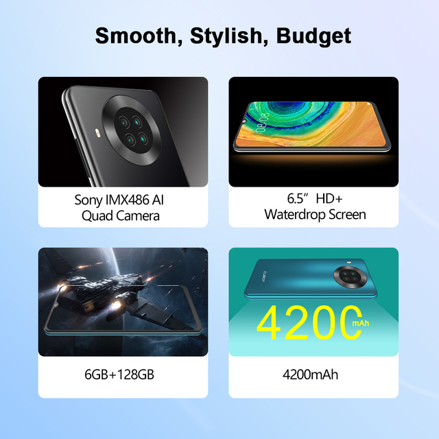 "Cubot Note 20 Pro Quad Camera Smartphone NFC 6GB/8GB+128GB 6.5"" 4200mAh Android 10 Dual SIM Telephone 4G LTE celular Note20 Pro 2"