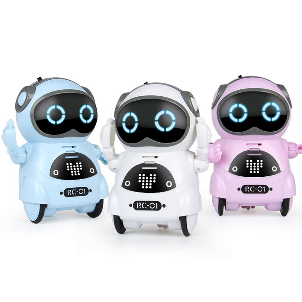 Mini Pocket RC Robot Talking Interactive Dialogue Voice Recognition Record Singing Dancing Telling Story Mini RC Robot Toys Gift