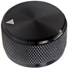 1Pcs High Quality Aluminum  HIFI Potentiometer Knob Audio Volume Knob  Encoder Knob   30 * 17 Mm - Black