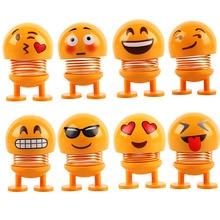 Car Shaking Head Toys Ornaments Bobblehead Nod Dolls Cute Cartoon Funny Wobble Head Robot Car Decora