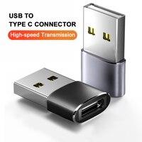 Convertidor de adaptador USB OTG macho a tipo C hembra, adaptador de Cable tipo C para Huawei P30 Xiaomi Mi 11 Oneplus 3 2 USB-C, cargador de datos