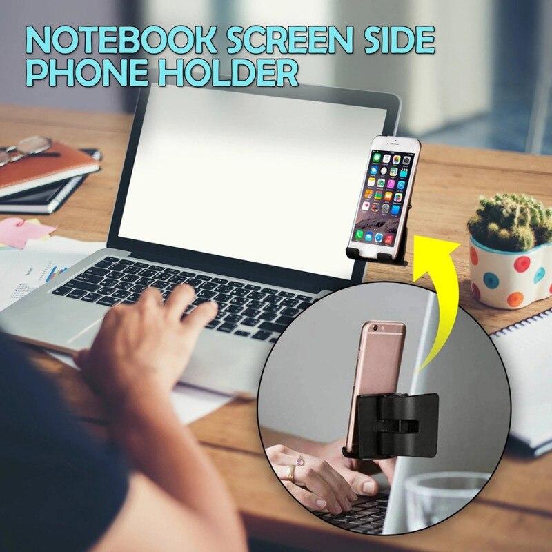Smart Mobile Clip Holder For Desktop Monitor Screen-Side And Laptop Mount Holder For Screen Tablet Bracket Mobile Phone Holder