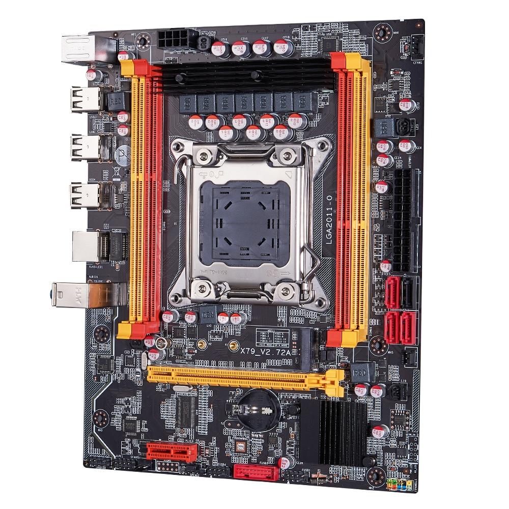 QIYIDA X79 motherboard LGA 2011 USB2.0 SATA3 Dual protocol m.2 support REG ECC memory and Xeon E5 processor DDR3 x79 6M 3