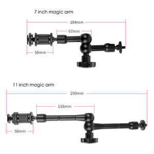 Image 2 - Super Clamp 7/11 inches Adjustable Magic Articulated Arm for Mounting HDMI Monitor LED Light LCD Video Camera Flash Camera DSLR