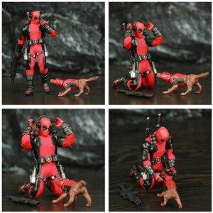"""Image 2 - One:12 Deadpool 6 """"Action Figureเสื้อผ้าผ้าชุดDead Pool Legendsสุนัข1/12 1:12ภาพยนตร์การ์ตูนของเล่นตุ๊กตา"""