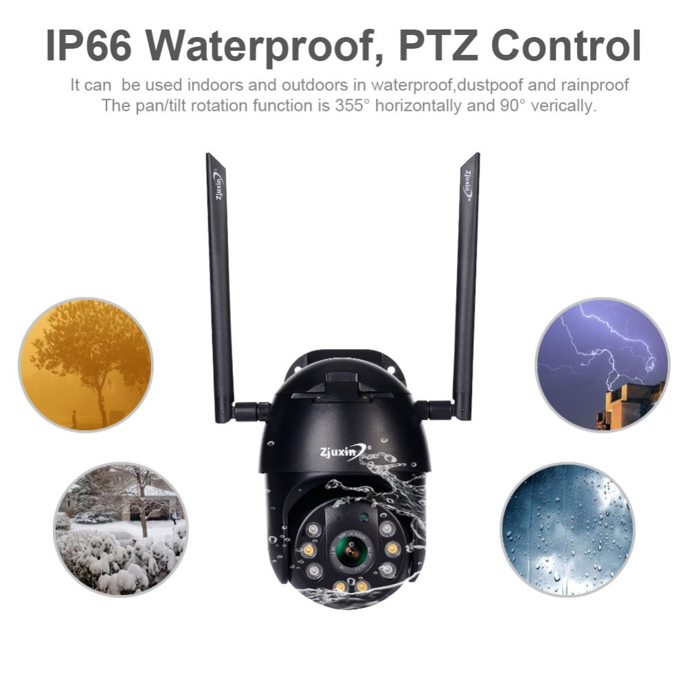 Hdd588aeaa63b4046acf02c8999e5ab681 Zjuxin PTZ IP Camera WiFi HD1080P Wireless Wired PTZ Outdoor CCTV Security Camra Double light human detection AI cloud camera