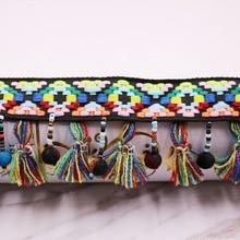 1Yards/Lot Silk Tassel Fringe Trim Lace Ribbon Embroidery Fabric Sewing tassels for jewelry diy Materials Tassels