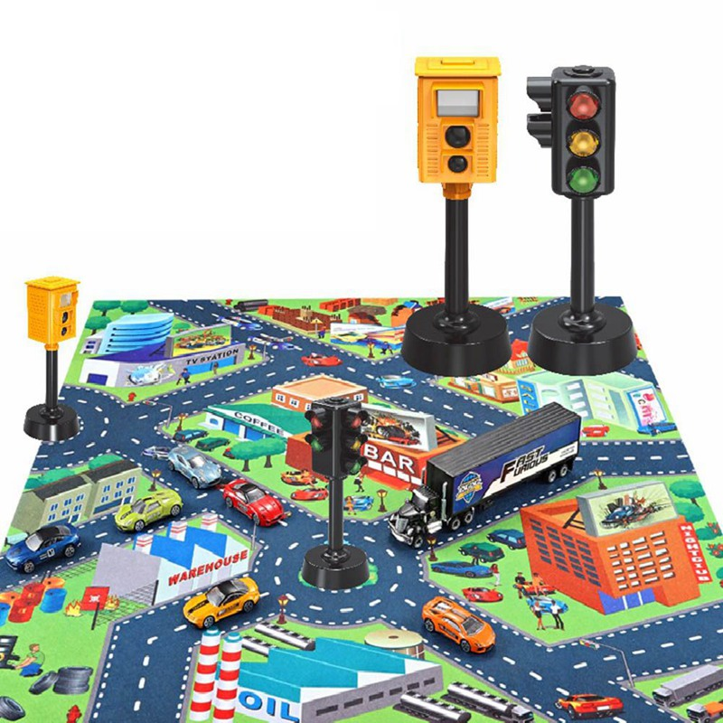 Children Traffic Toys Traffic Safety Education Props Speed Camera Model Traffic Lights With Sound And Light Gift