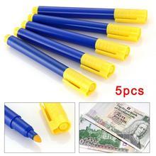 5pcs/bag Watermark Counterfeit Pen Forged Money Pen Money Bank Mark Tester Money Checker Detector Pen Detector E1L4